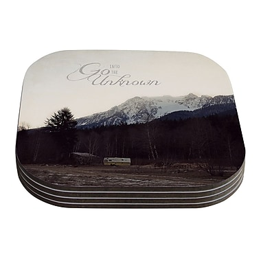 KESS InHouse Go Into The Unknown by Robin Dickinson Coaster (Set of 4)