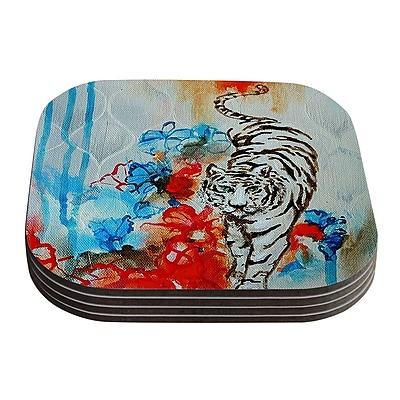KESS InHouse Tiger by Sonal Nathwani Coaster (Set of 4)