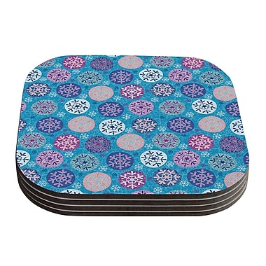 KESS InHouse Floral Winter by Julia Grifol Coaster (Set of 4)