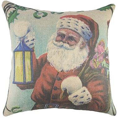 TheWatsonShop Santa Burlap Throw Pillow