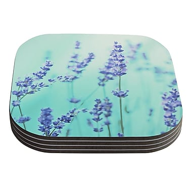 KESS InHouse Mint Lavender by Monika Strigel Coaster (Set of 4)