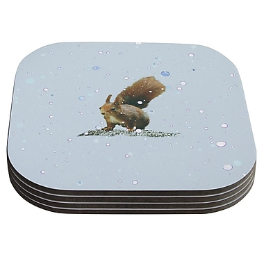 KESS InHouse Squirrel by Monika Strigel Coaster (Set of 4)