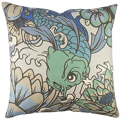 TheWatsonShop Koi Cotton Throw Pillow