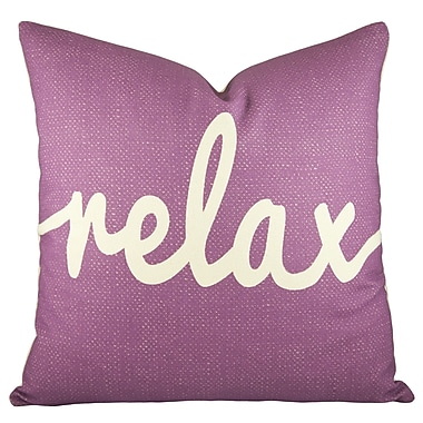 TheWatsonShop Relax Cotton Throw Pillow; Purple