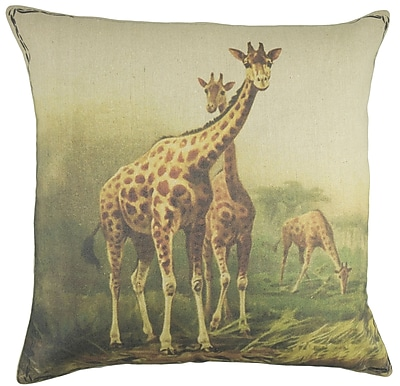 TheWatsonShop Giraffe Cotton Throw Pillow