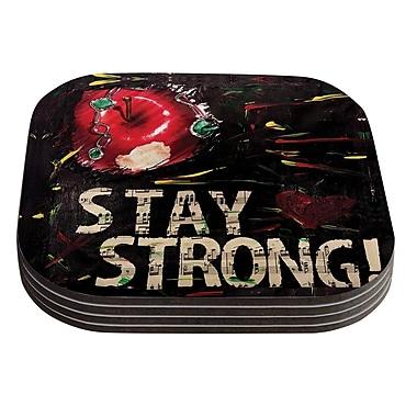 KESS InHouse Stay Strong by Alexa Nicole Coaster (Set of 4)