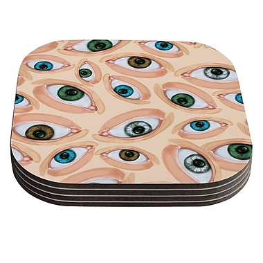 KESS InHouse Eyes by Alisa Drukman Eyeballs Coaster (Set of 4)