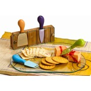 Picnic Plus by Spectrum Tempered Glass Monaco Cheese Board w/ Serving Tools