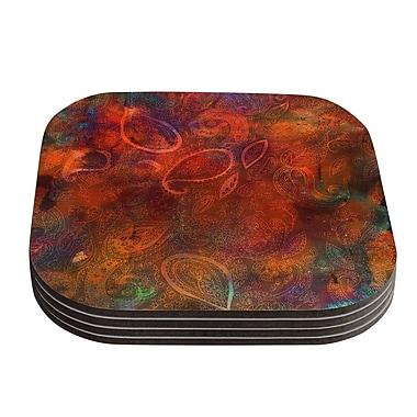 KESS InHouse Tie Dye Paisley by Nikki Strange Coaster (Set of 4)