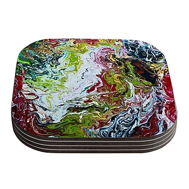 KESS InHouse Chaos by Claire Day Coaster (Set of 4)