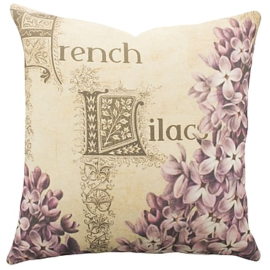 TheWatsonShop French Lilacs Cotton Throw Pillow