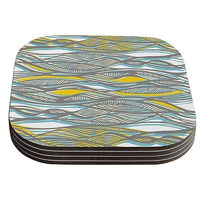 KESS InHouse Drift by Gill Eggleston Coaster (Set of 4)