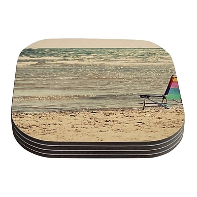 KESS InHouse Beach Chair by Angie Turner Coaster (Set of 4)