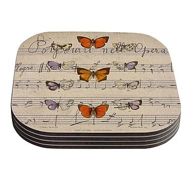 KESS InHouse Butterfly Opera by Suzanne Carter Coaster (Set of 4)
