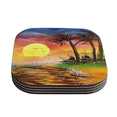 KESS InHouse Maui Sunrise by Infinite Spray Art Coaster (Set of 4)