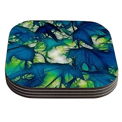 KESS InHouse Leaves by Alison Coxon Coaster (Set of 4)