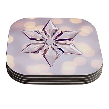 KESS InHouse Starbright by Sylvia Cook Holiday Coaster (Set of 4)
