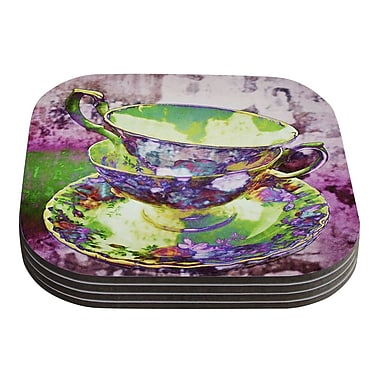KESS InHouse Mad Hatters T-Party II by alyZen Moonshadow Coaster (Set of 4)