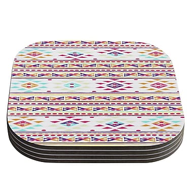 KESS InHouse Aylen by Nika Martinez Tribal Coaster (Set of 4)