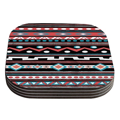 KESS InHouse Tipi by Nika Martinez Tribal Coaster (Set of 4)