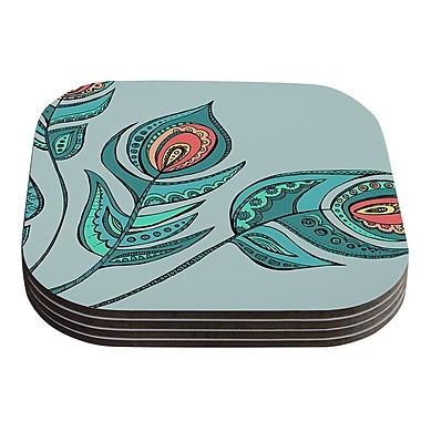 KESS InHouse Feathers by Brienne Jepkema Coaster (Set of 4)