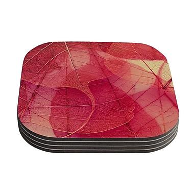 KESS InHouse Delicate Leaves by Ingrid Beddoes Coaster (Set of 4)