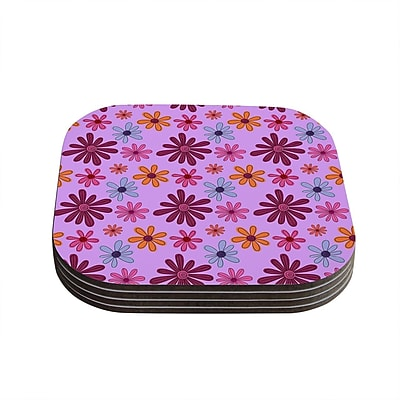 KESS InHouse Woodland Floral by Jane Smith Coaster (Set of 4)