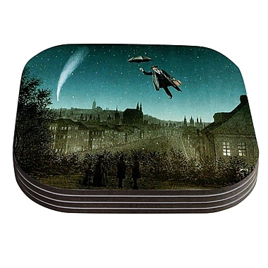 KESS InHouse The Departure by Suzanne Carter Coaster (Set of 4)