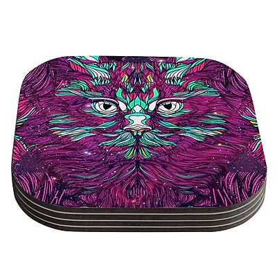 KESS InHouse Space Cat by Danny Ivan Coaster (Set of 4)