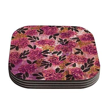 KESS InHouse Grunge Flowers II by Ebi Emporium Coaster (Set of 4)