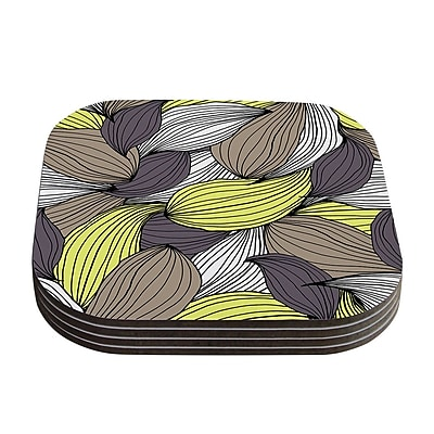 KESS InHouse Wild Brush by Gabriela Fuente Coaster (Set of 4)