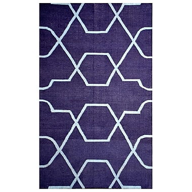 MOTI Rugs Thai 01 Blue Indoor/Outdoor Area Rug; 5' x 8'
