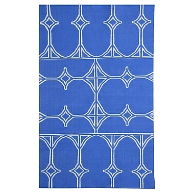 MOTI Rugs Thai 03 Blue Indoor/Outdoor Area Rug; 5' x 8'