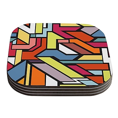 KESS InHouse Abstract Shapes by Danny Ivan Coaster (Set of 4)