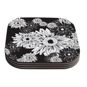 KESS InHouse Midnight Florals by Laura Escalante Coaster (Set of 4)