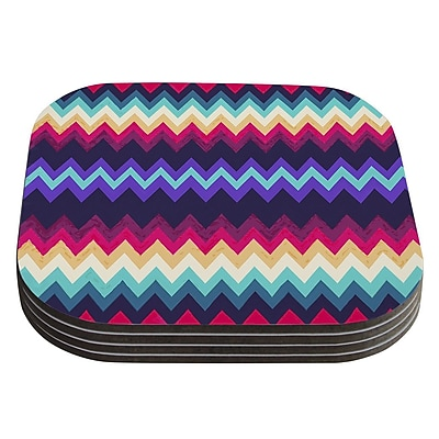 KESS InHouse Surf Chevron by Nika Martinez Coaster (Set of 4)