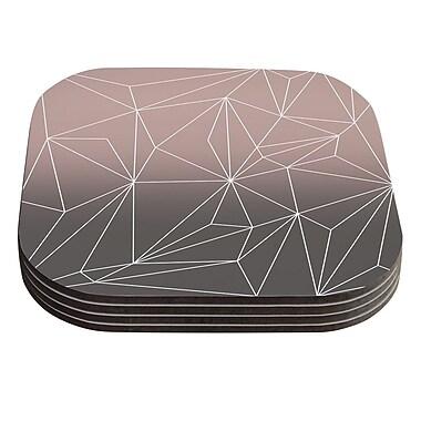 KESS InHouse Simplicity 2X by Mareike Boehmer Geometric Coaster (Set of 4)
