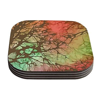 KESS InHouse Skies by Alison Coxon Coaster (Set of 4); Fire