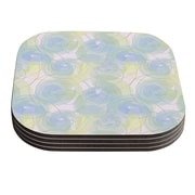 KESS InHouse Paper Flower by Alison Coxon Coaster (Set of 4)