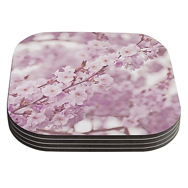 KESS InHouse Endless Cherry by Monika Strigel Coaster (Set of 4)