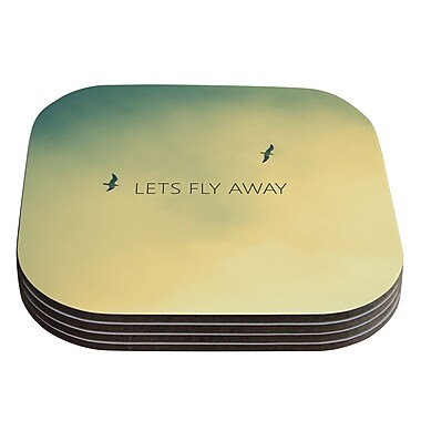 KESS InHouse Let's Fly Away by Richard Casillas Coaster (Set of 4)
