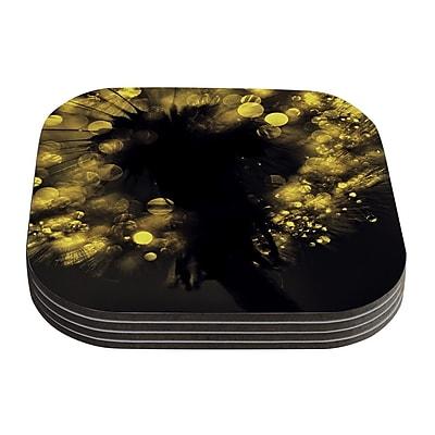 KESS InHouse Moonlight Dandelion by Ingrid Beddoes Coaster (Set of 4)