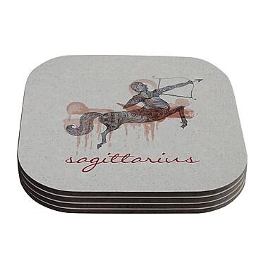 KESS InHouse Sagittarius by Belinda Gillies Coaster (Set of 4)
