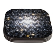 KESS InHouse Messier Chevron by Suzanne Carter Coaster (Set of 4)