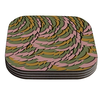 KESS InHouse Wings II by Akwaflorell Coaster (Set of 4)
