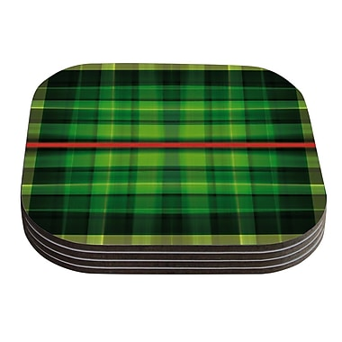 KESS InHouse Tartan by Matthias Hennig Coaster (Set of 4)