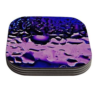 KESS InHouse Window by Maynard Logan Coaster (Set of 4); Purple