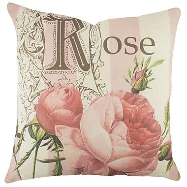 TheWatsonShop Rose Cotton Throw Pillow