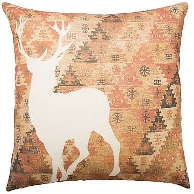 TheWatsonShop Deer Aztec Cotton Throw Pillow