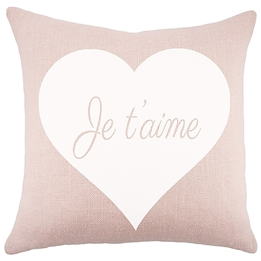 TheWatsonShop Je T'aime Burlap Throw Pillow